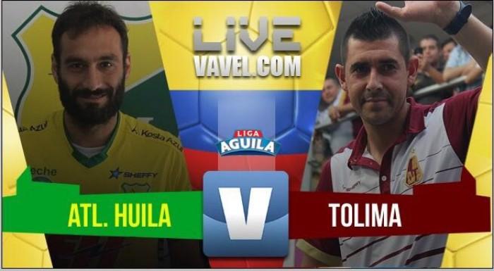 Huila vs Tolima en vivo y en directo online por la Liga Águila 2017-II (2-0)