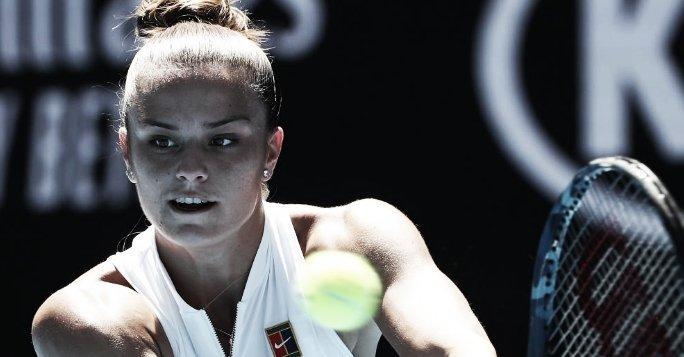 Ostapenko aumenta fase ruim e cai na estreia do Australian Open para Sakkari; Kontaveit vence fácil