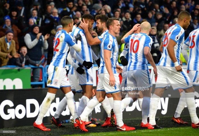 Huddersfield Town 2-0 Brighton & Hove Albion: Steve Mounié first half double ends Terriers' miserable run