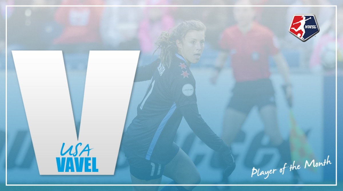 Sofia Huerta named NWSL Player of the Month for April