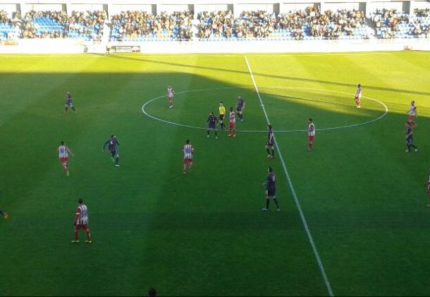 Goleada del Huesca ante el filial del Atlético de Madrid