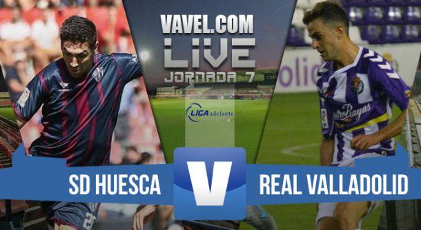 Resultado SD Huesca vs Real Valladolid en vivo y en directo online en la Liga Adelante 2015 (1-1)