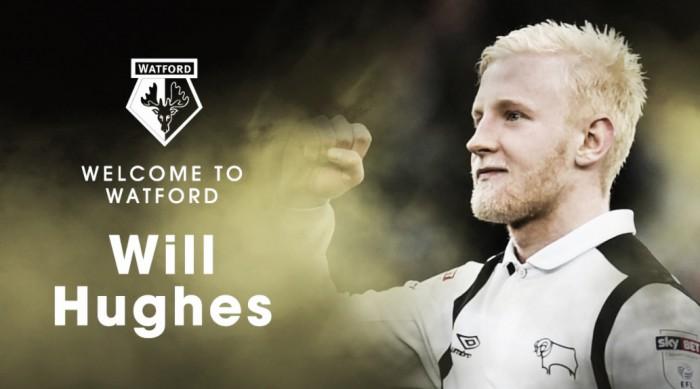 Watford encerra negociações e anuncia contratação de meia Will Hughes, promessa do Derby