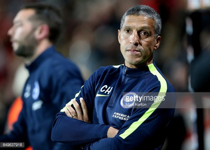 Albion boss Chris Hughton is after a win not revenge against Newcastle