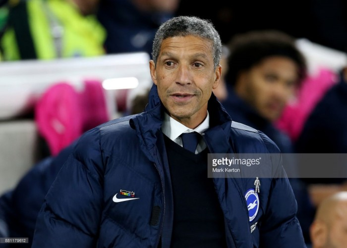 Chris Hughton: Draw with rivals Crystal Palace a 'fair result'