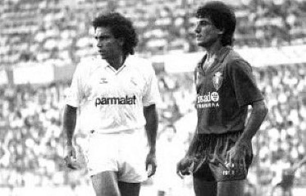 Serial Real Madrid - Osasuna: 1987, Hugo Sánchez y Gordillo despiertan del sueño a los rojillos