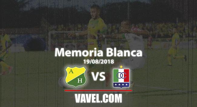 Memoria 'Blanca': Once Caldas y una victoria ante Atlético Huila para mantener el liderato