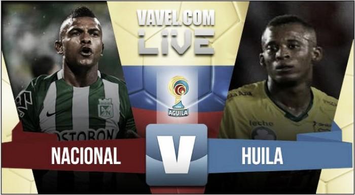 Resultado Nacional vs Huila enLiga Águila 2016 (4-0)