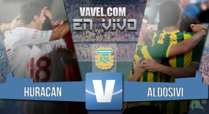 Resultado Huracán 2-0 Aldosivi online en el Torneo de Transición 2016
