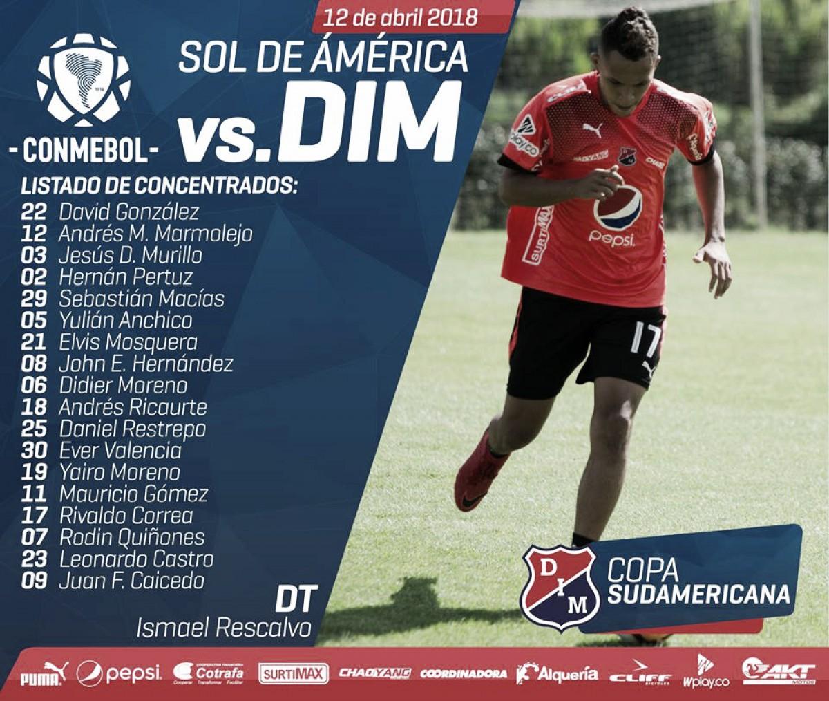Viajeros del Deportivo Independiente Medellín para su debut en Copa Sudamericana