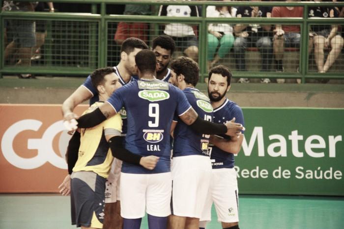 Sada Cruzeiro vence Canoas, encerra série em três jogos e se garante na semifinal da Superliga