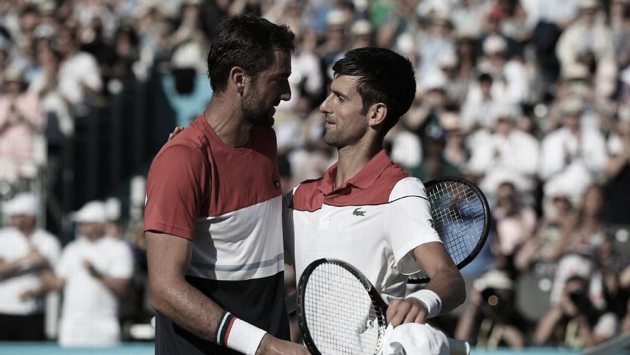 Cilic no llegó y Djokovic ya es semifinalista en Madrid