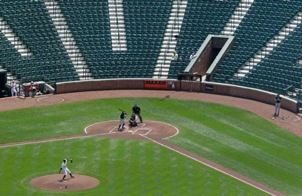 Orioles Beat White Sox in an Empty Camden Yards