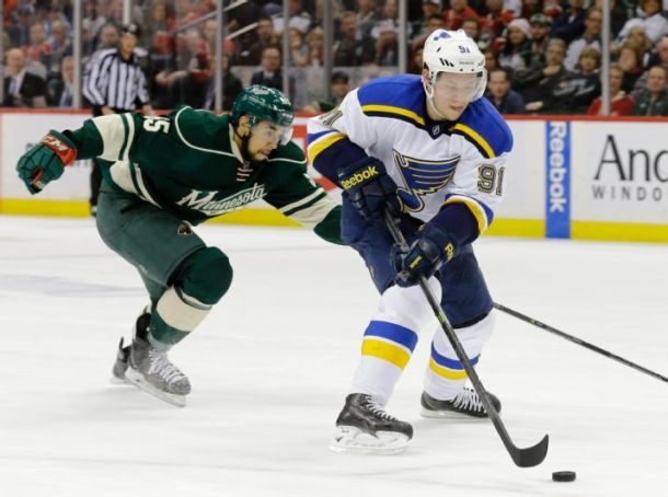 St. Louis Blues Rout Minnesota Wild to Even Series