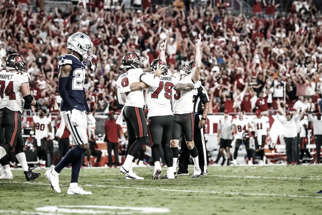 Tampa Bay Buccaneers vence Dallas Cowboys a segundos do fim na abertura da NFL