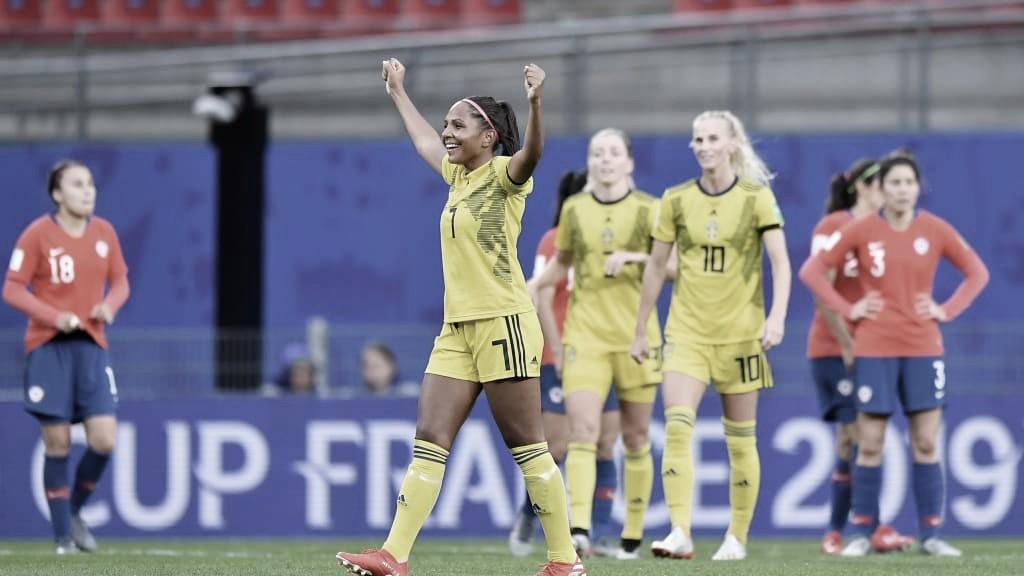 Suécia vence Chile em jogo marcado por forte chuva na Copa do Mundo Feminina