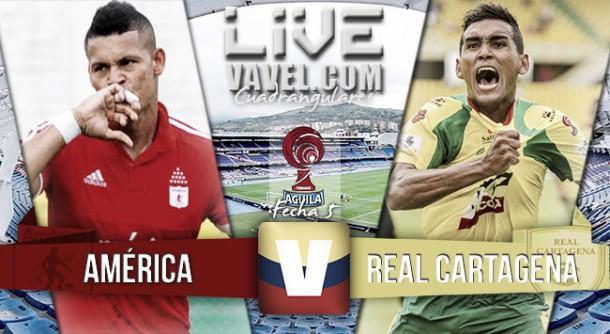Resultado América de Cali - Real Cartagena en el Torneo Águila (3-1)
