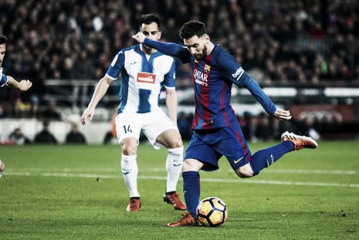 Buscando seguir 100% no campeonato, Barcelona recebe Espanyol pelo dérbi catalão