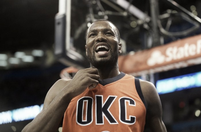 Who should be the Oklahoma City Thunder's starting power forward?