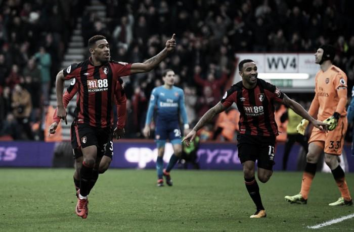 Bournemouth marca duas vezes em quatro minutos e vence Arsenal de forma inédita