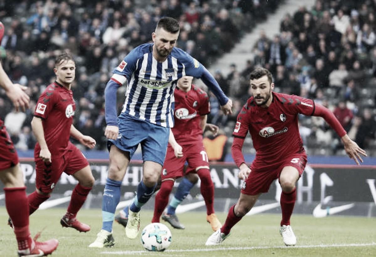 Hertha Berlin desperdiça chances e empata sem gols com Freiburg em casa