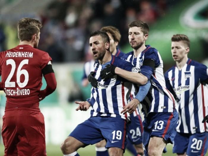 1. FC Heidenheim 2-3 Hertha BSC: Ibisevic's brace helps capital club advance in Pokal