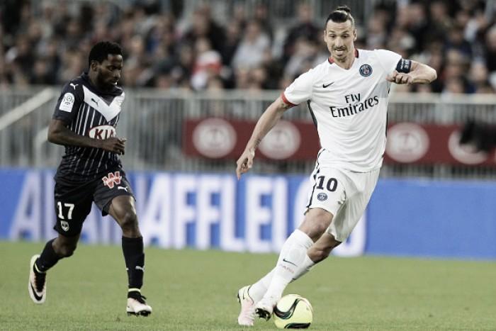 Ibrahimovic marca mais uma vez, mas PSG apenas empata com Bordeaux em partida atrasada