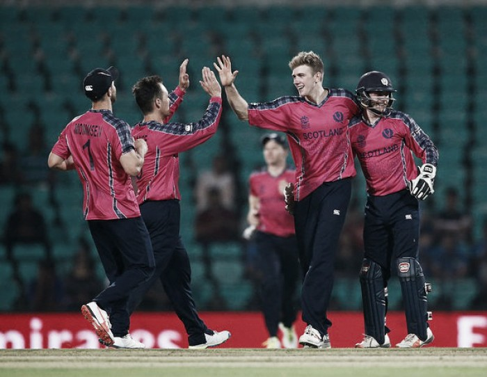 World T20: Scots chase down revised Hong Kong total for first ever win in a global event