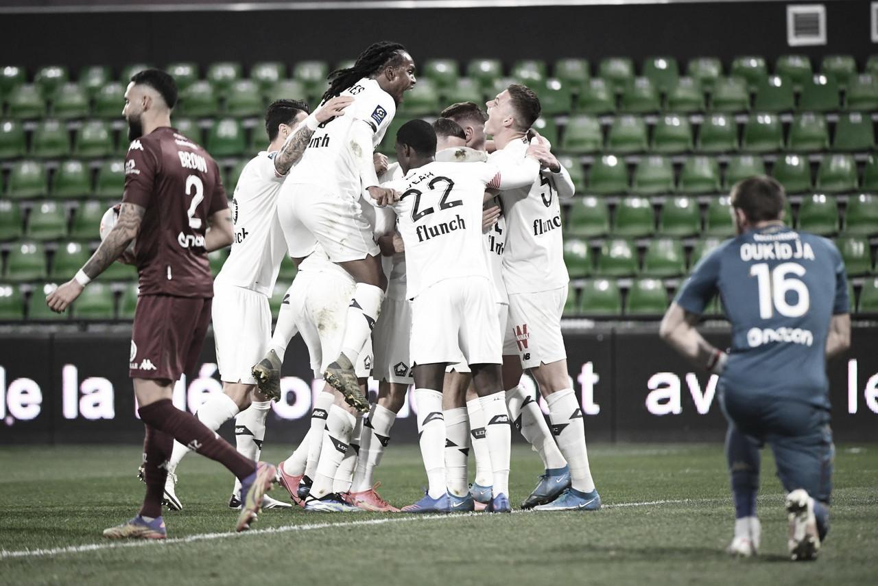 Lille constrói vitória difícil sobre Metz no segundo tempo e segue líder da Ligue 1