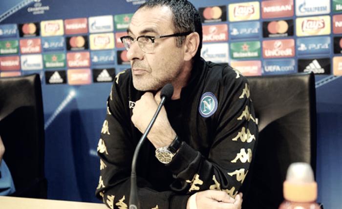 """Napoli, Sarri: """"Testa al Genoa, è sempre partita difficile. Crescita? Trasformiamo la rabbia in punti"""""""