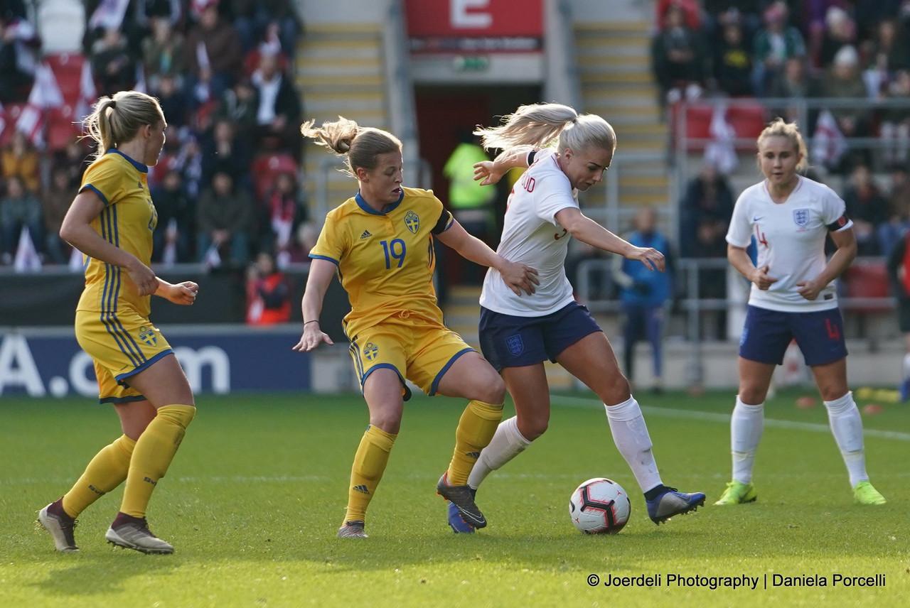 Anna Anvegård talks about scoring her first senior goal for Sweden