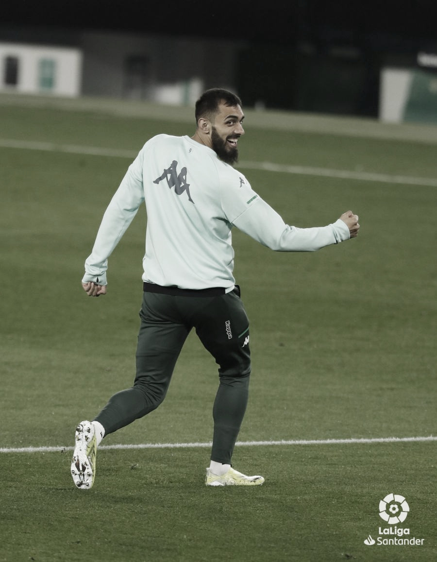 Borja Iglesias, MVP del Betis -Getafe