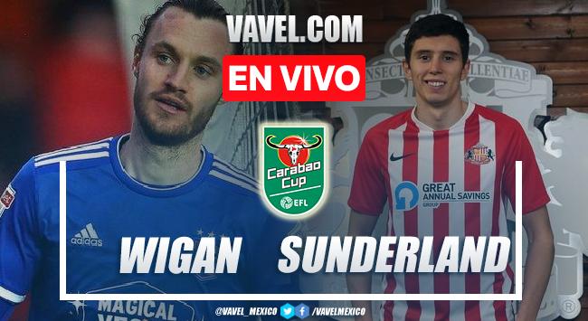 Goles y resumen del Wigan 0-2 Sunderland en Carabao Cup 2021