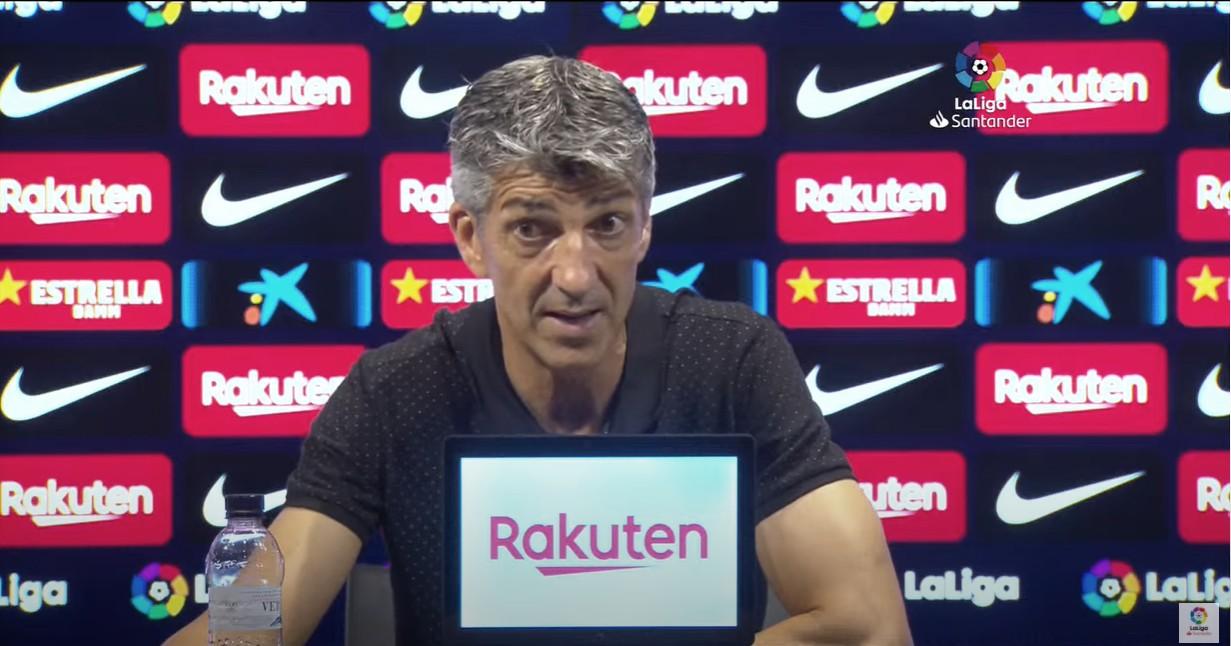 """Imanol: """"No hemos igualado en intensidad al Barcelona"""""""