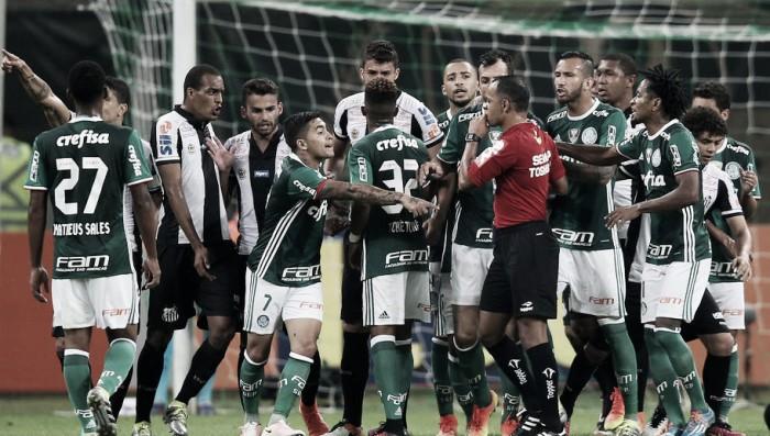 Resultado Santos x Palmeiras no Campeonato Brasileiro 2016 (1-0)