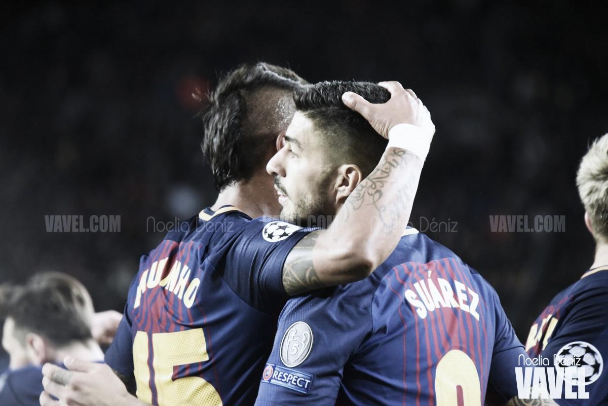 La pizarra del Barça - Roma: la efectividad azulgrana castiga a la Roma