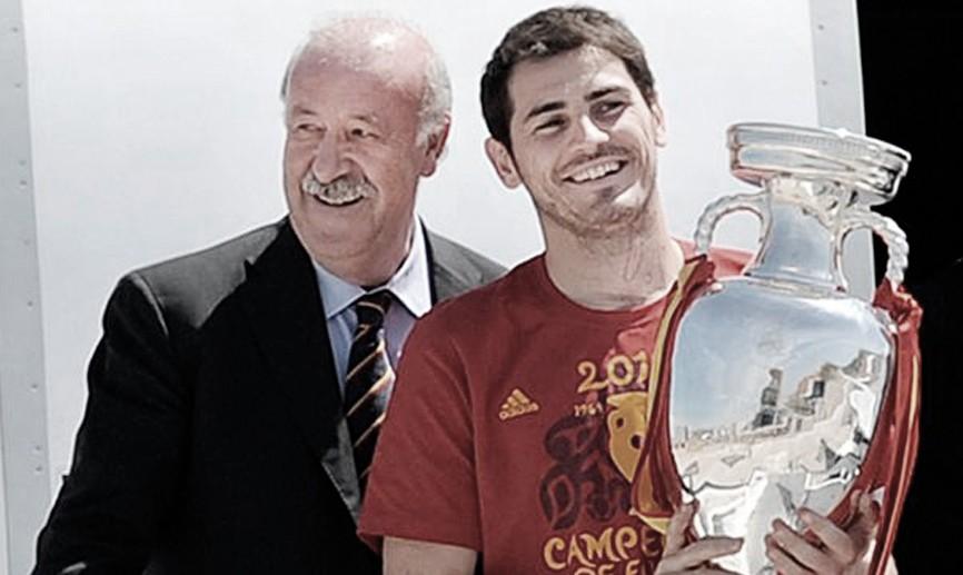 Iker Casillas y Vicente del Bosque se reencuentran para charlar sobre el pasado de la selección | Foto: @SeFutbol