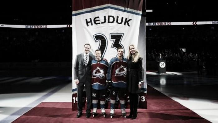 Los Avalanche retiraron el número 23 de Milan Hejduk