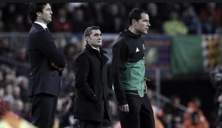 """""""Decidimos que era o melhor"""", Valverde sobre manter Messi no banco"""