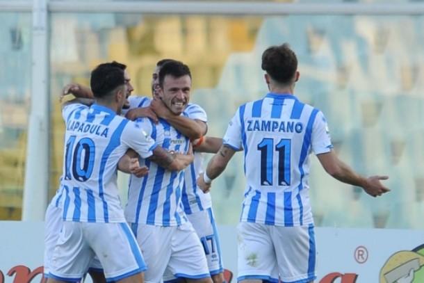 Il Pescara riprende a correre: 2-0 all'Entella