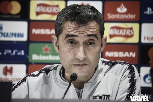 """Ernesto Valverde: """"Ha sido un partido complicado, hemos sufrido mucho"""""""