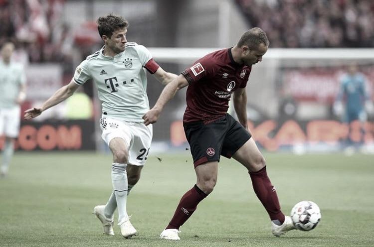 Ainda na disputa pelo título, Bayern empata comNuremberge se aproxima do bicampeonato