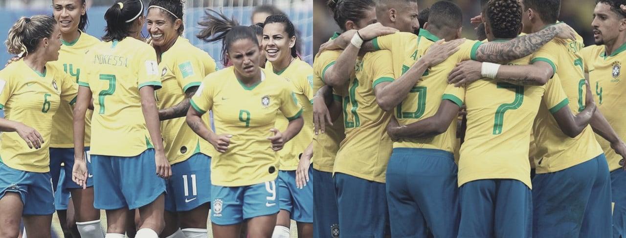 A camisa e o objetivo são iguais, mas a diferença entre seleções brasileiras é enorme