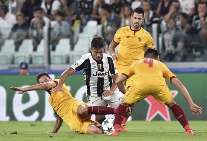 Champions League, la Juve sbatte contro il muro del Siviglia: 0-0 al debutto