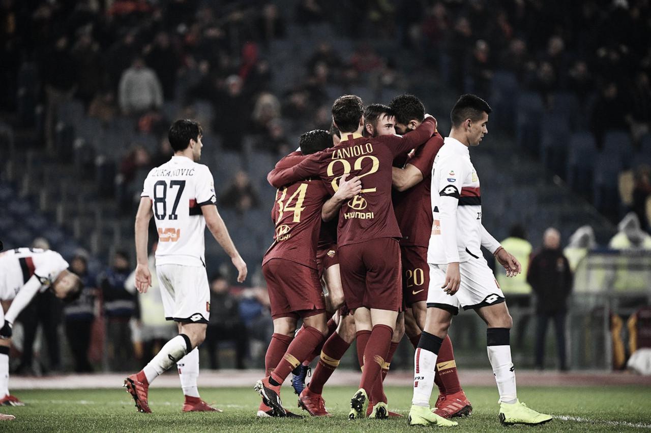 Em jogo repleto de emoções, Roma bate Genoa de virada e se recupera na Serie A