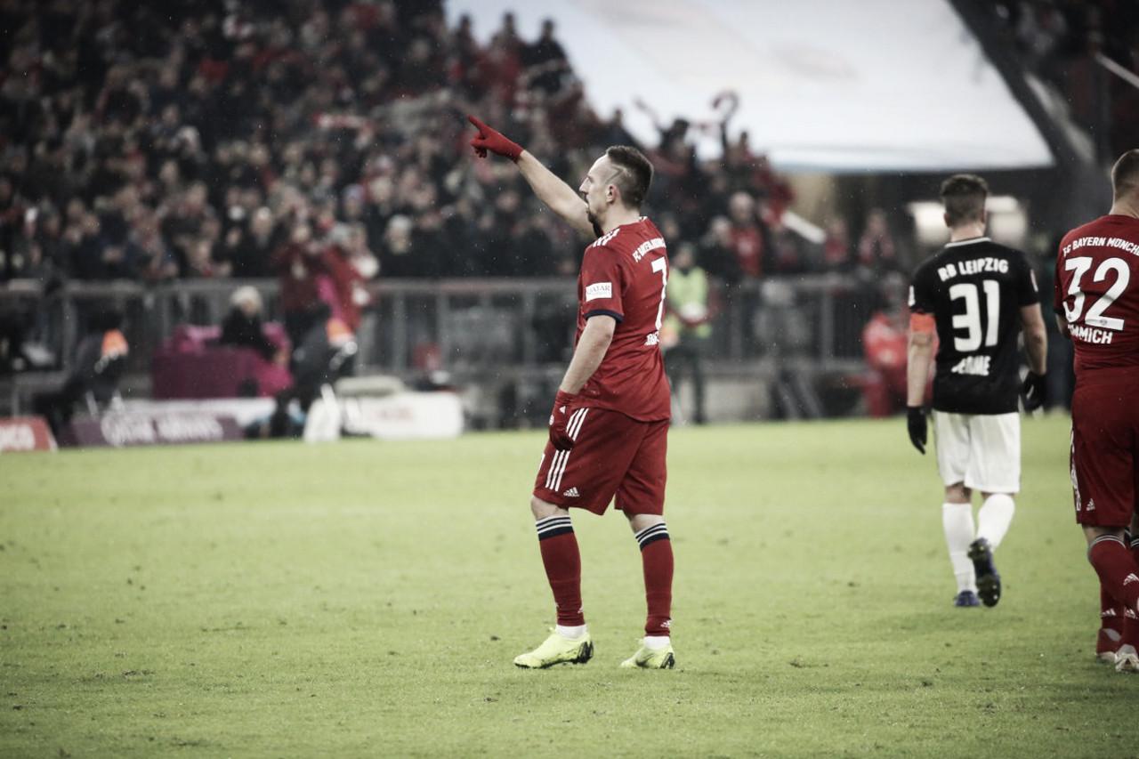 Ribery marca golaço no fim e Bayern de Munique vence Leipzig na Allianz Arena