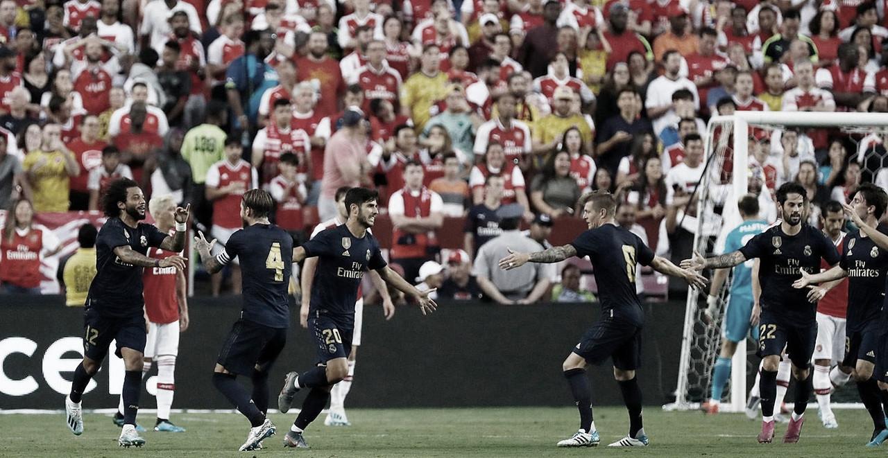 Real Madrid reage e derrota Arsenal nos pênaltis pela International Champions Cup
