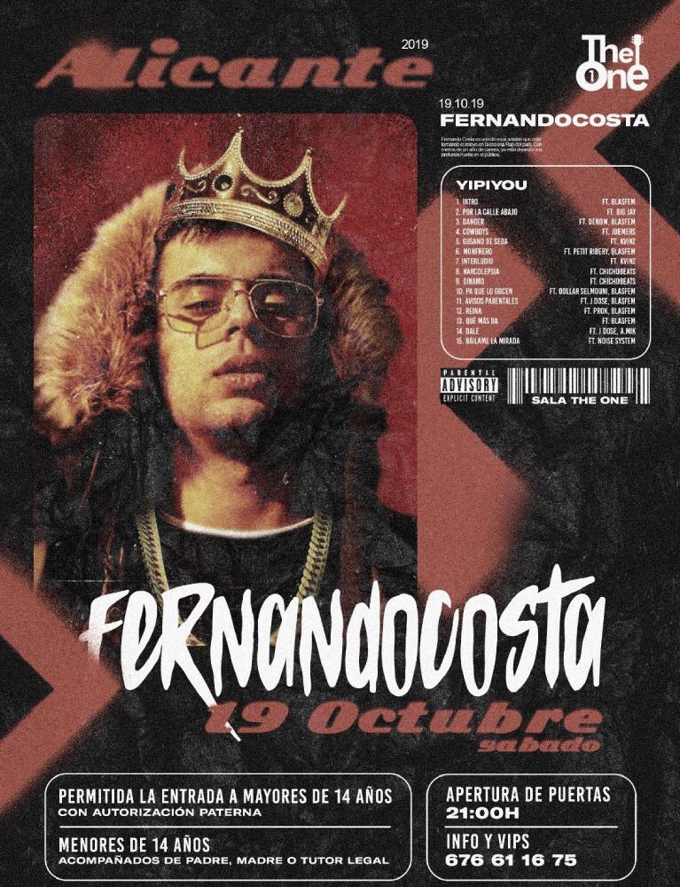 Fernandocosta vende todas las entradas para su concierto de este sábado en The One