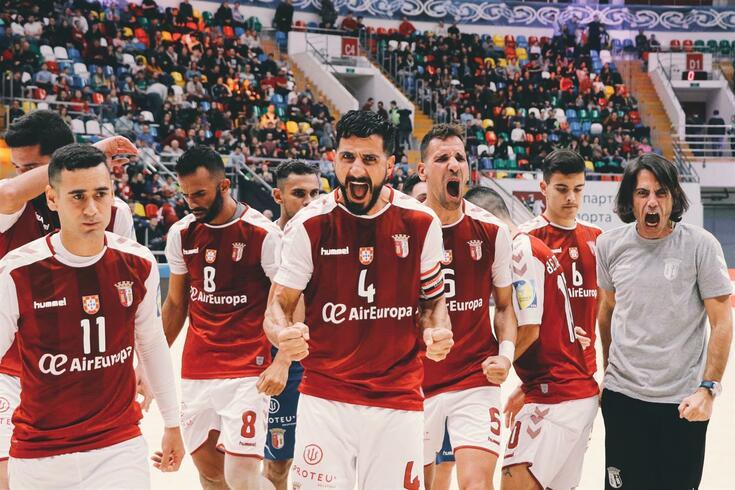 SC Braga bicampeão em Futebol de Praia