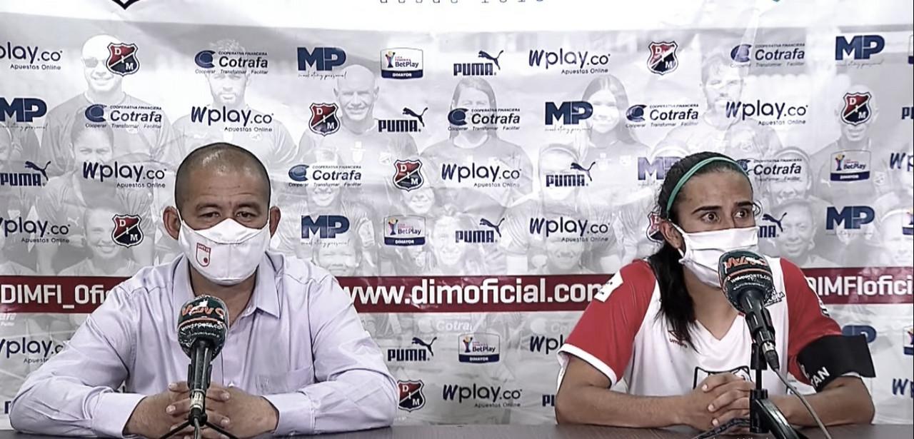 Foto: Rueda de prensa Albeiro Erazo y Gabriela Huertas